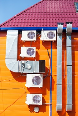 Air  conditioners on external wall